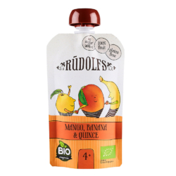 Rudolfs Organic Mangó - Banán - Birsalma gyümölcspüré 110g